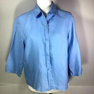 Relativity Blue Linen Blouse in LP